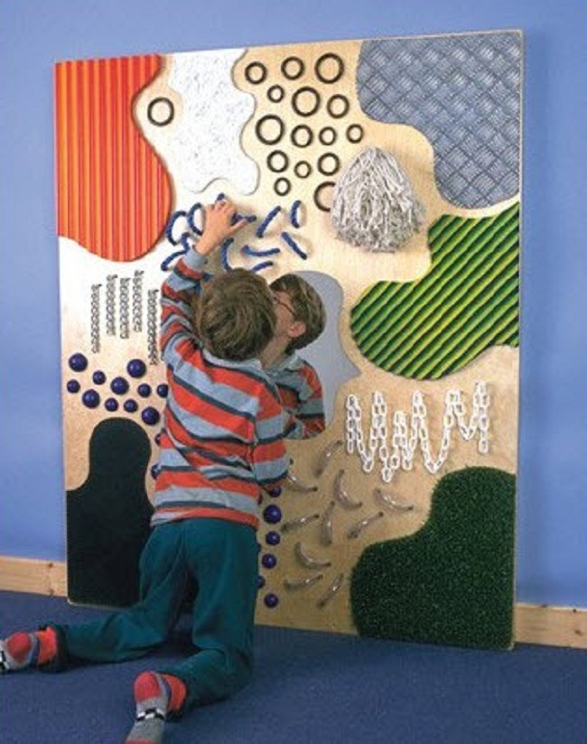 Tactile And Visual Stimulate Textured Wall