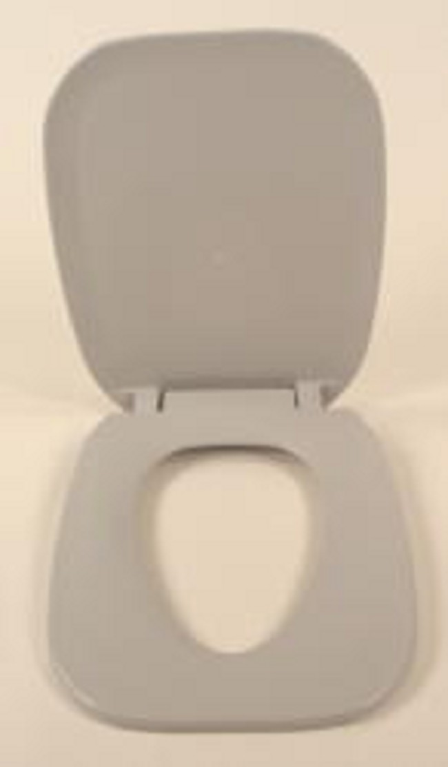 Gray Elongated Toilet Seat and Cover. Elongated Toilet Seat and Cover