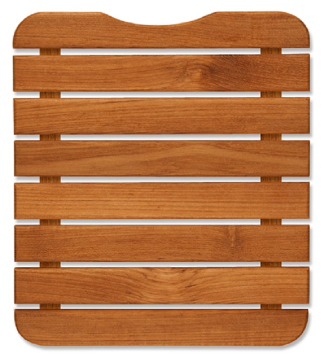Mini Teak Wood Bath Mat