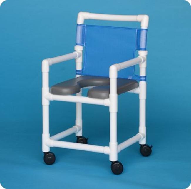chair swing shower perforated plastic seat with wheeled wheels arm