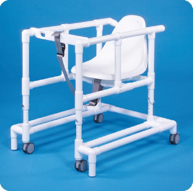standard line seated walker with safety strap