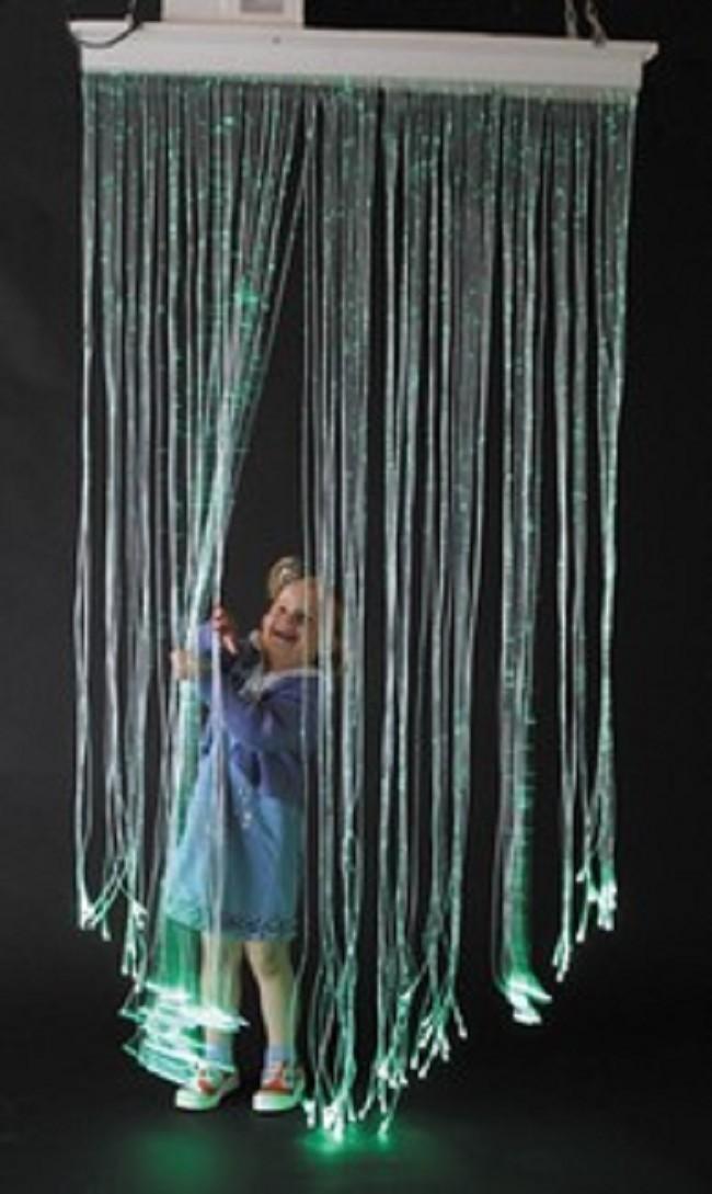 Light Up Fiber Optic Curtain For Sensory Rooms