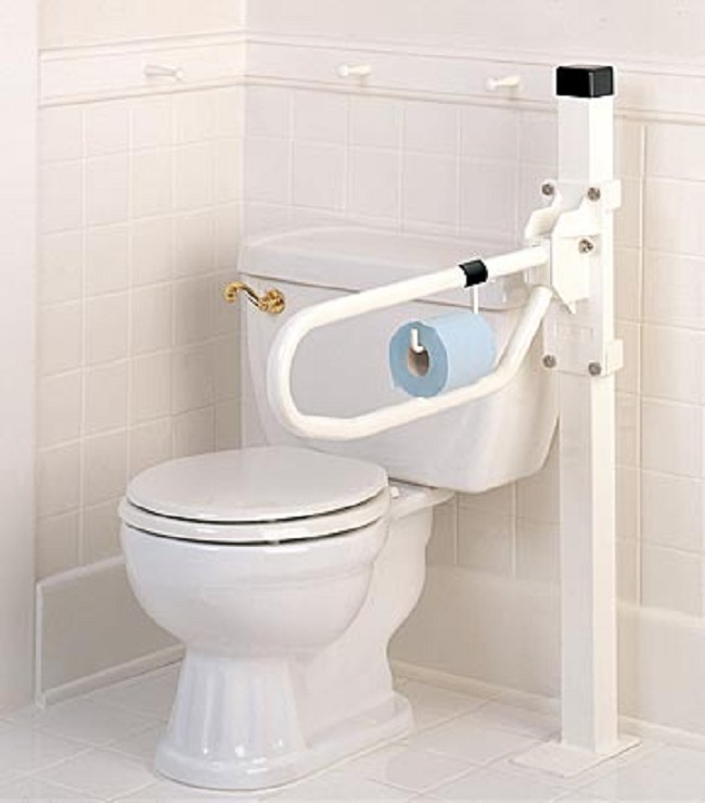 Toilet Hinged Arm Support - FREE Shipping