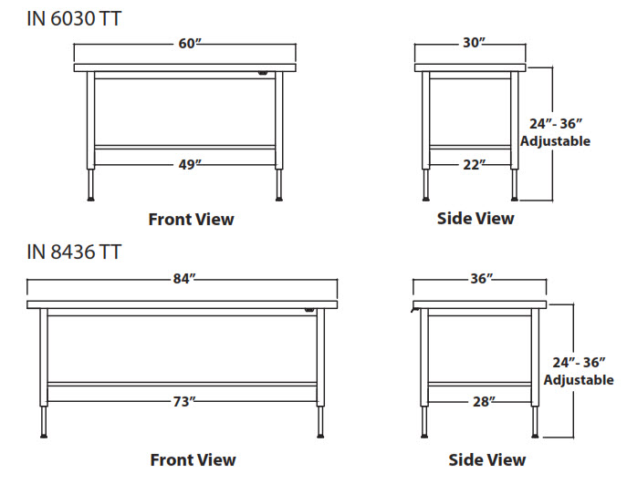 Infinity Height Adjustable Treatment Table