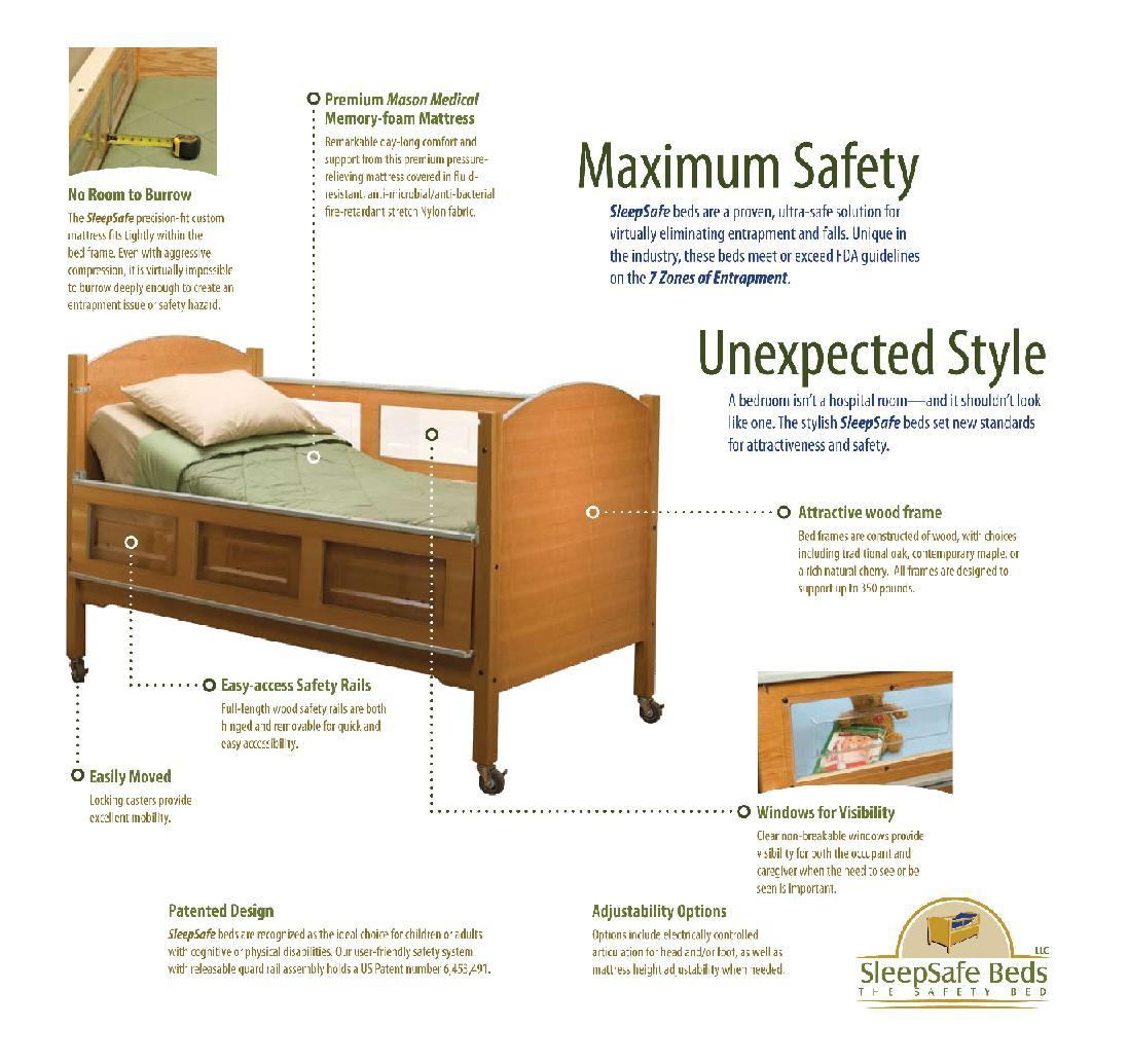 SleepSafer Professional Tall Safety Beds