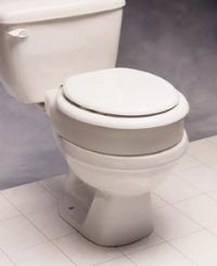 Elongated Hinged Elevated Toilet Seat