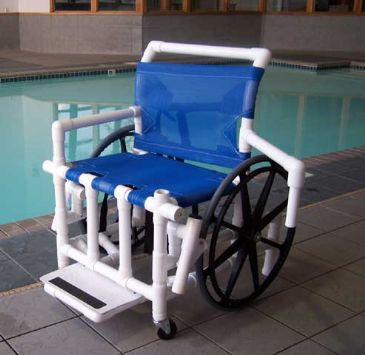 Pool Wheelchair With Mesh Sling Seat