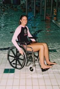 Aqua Creek Stainless Steel Folding Aquatic Wheelchair