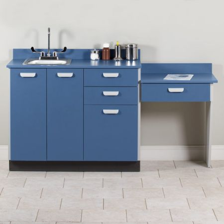 Base Cabinet Set with Sink and Desk