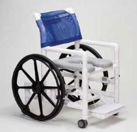PVC Self-Propelled Shower Commode Chair