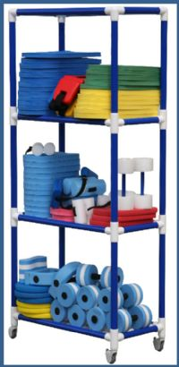 Duracarts Aquatic All Purpose Rack and Carts - 4 Shelf