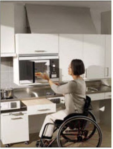 Height Adjustable Cooktop Kit Wheelchair Accessible Kitchen