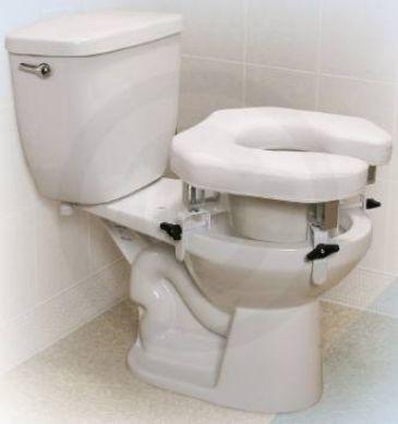 Clamp On Raised Toilet Seat