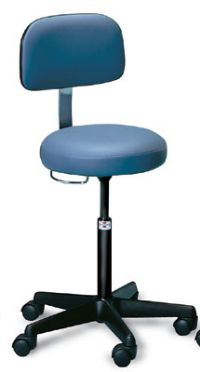 Air-Lift Stool with Backrest, Choose Style