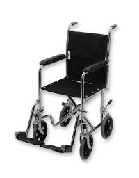 Lightweight 19in. Transport Chair with Hammer Tone Finish