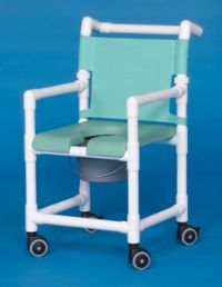 Open Front Soft Seat Deluxe Shower Chair Commode