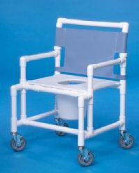 Oversize Shower Chair Commode with Flat Seat