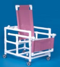 Reclining Shower Chair Commode with Flat Seat