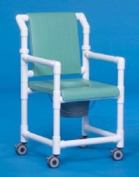 Closed Seat Deluxe Shower Chair Commode