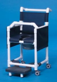 Deluxe Shower Chair Commode with Open Front Soft Seat