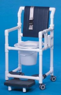 Shower Chair Commode with Deluxe Back