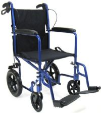 Ultra Light Weight Transport Wheelchair with Hand Brakes
