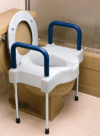 Extra Wide Tall Ette Elevated Toilet Seat With Legs 4in