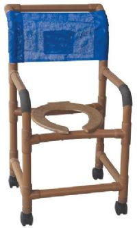 18 Inch Wood Tone Shower Chair