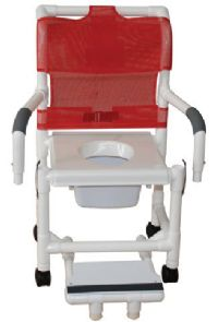 Shower Commode Chair with Vacuum Seat and Double Drop Arms