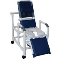 Reclining Shower Chair with Elongated Soft Seat