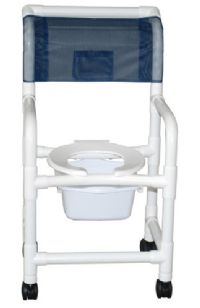 18 Inch Echo Shower Chair with Pail