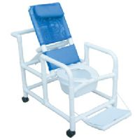 Echo Reclining Shower Commode Chair with Pail
