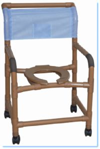 22 Inch Wood Tone Shower Chair