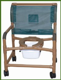 Wood Tone Bariatric Shower Commode Chairs