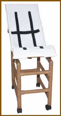 Wood Tone Large Reclining Pediatric Shower Chair