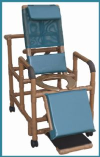 Wood Tone Reclining Shower Chair
