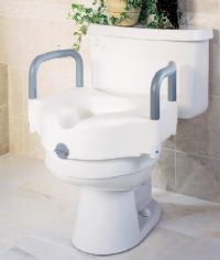 Guardian Locking Raised Toilet Seat With Arms 5in