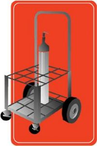 Mada Small Cylinder Cart for 12 D/E Oxygen Cylinders