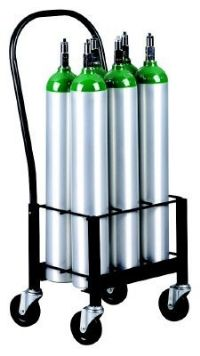 Warehouse and Industrial Oxygen Cylinder Carts