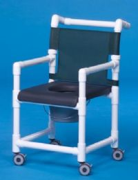 Closed-Front Soft Seat Deluxe Shower Chair Commode
