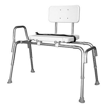 Deluxe Vinyl Padded Transfer Bench With Full Seat Shower